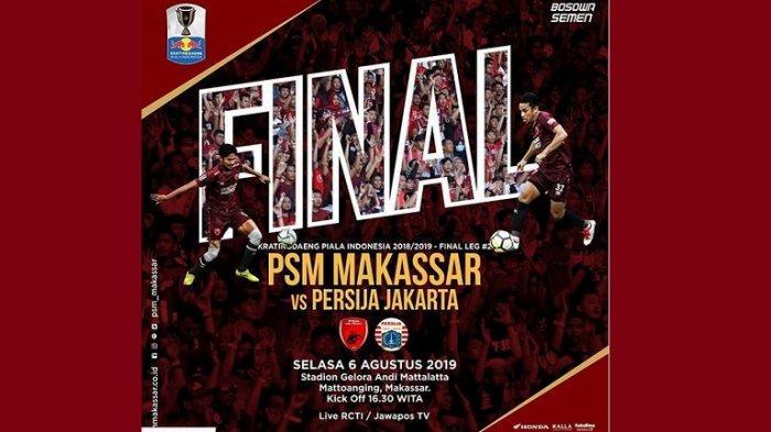 PSM Makassar Juara Piala Indonesia 2019 Setelah Menaklukkan Persija 2-0 di Leg Kedua