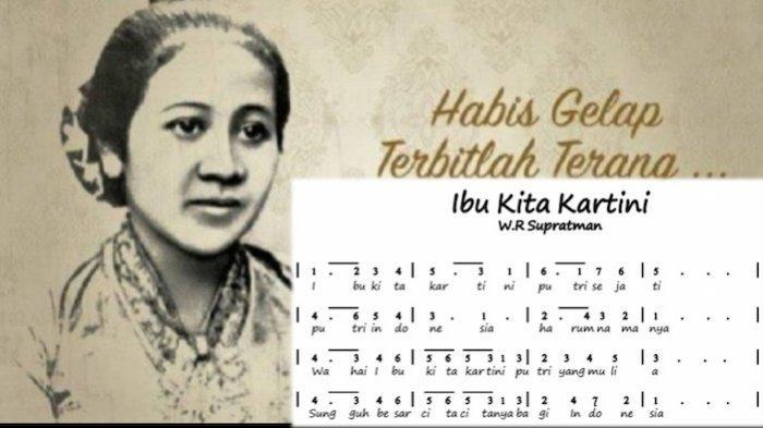 Lirik Lagu Ibu Kita Kartini dan Chordnya, WR Supratman Sempat Mengubah Bait Aslinya