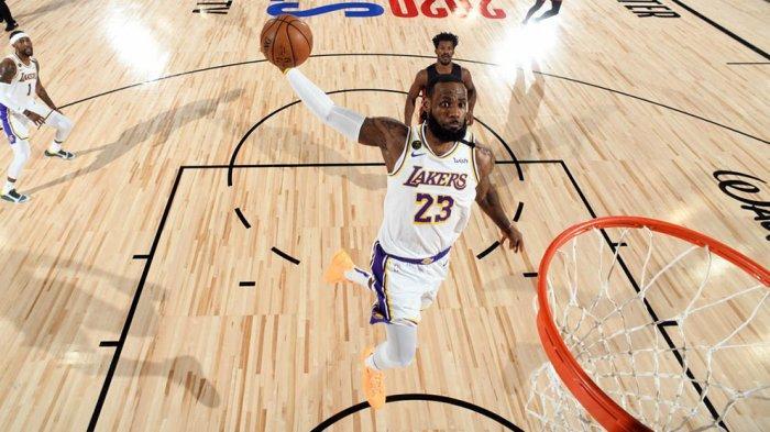 LeBron James tampil dominan selama laga final NBA dan menyumbangkan poin terbanyak buat Lakers
