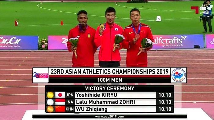 Zohri Kini Manusia Tercepat di Asia Tenggara, Selain Raih Perak Kejuaraan Asia 2019