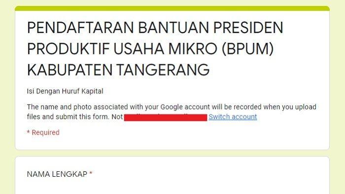 Berikut Ini Link dan Tata Cara Pendaftaran Bantuan UMKM Sebesar Rp 2,4 Juta di Tangerang