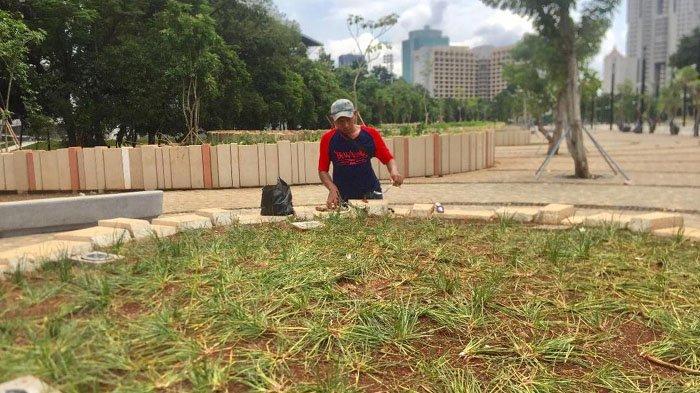 Lampu Taman SUGBK Banyak yang Mati Usai Final Piala Presiden 2018
