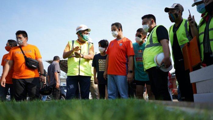Diresmikan Anies, Inilah Penampakan Lapangan Latih Berstandar FIFA di Jakarta International Stadium
