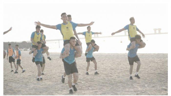 Begini Materi Latihan Pertama Timnas Indonesia Ala Shin Tae-yong di Dubai, Latihan di Tepi Pantai