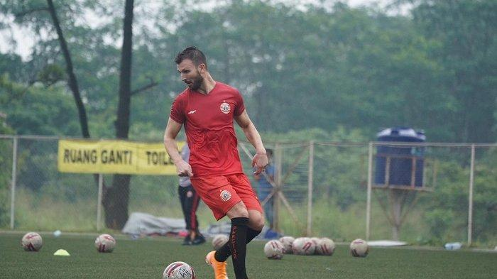 Mark Klok berlatih bersama Persija Jakarta.