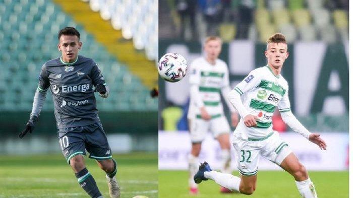 Egy Maulana Vikri ketika masih memakai no 10 di Lechia Gdansk selama dua musim, kini beralih ke Kacper Urbanski (kanan).