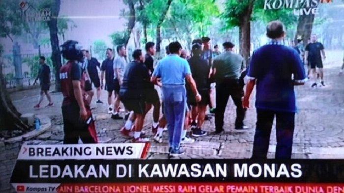 LEDAKAN di Monas, Live Streaming Ledakan dari Kawasan Monas Jakarta Pusat, Anggota TNI Jadi Korban