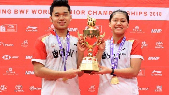 Leo/Indah Rebut Emas di Kejuaraan Dunia Junior