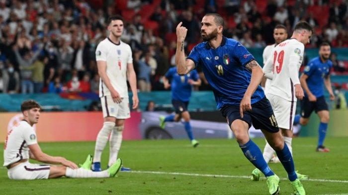 Skor Sementara Babak Kedua Italia vs Inggris 1-1, Gol Leonardo Bonucci Manfaatkan Bola Rebound