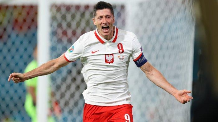 Hasil Sementara Babak Kedua Spanyol vs Polandia 1-1, Gol Lewandowksi, Penalti Spanyol Gagal