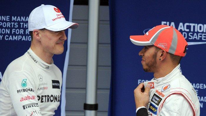Lewis Hamilton sempat balapan bareng Michael Schumacher
