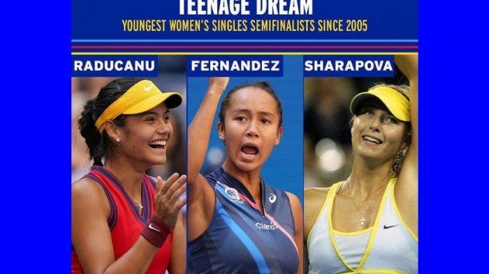 Kejutan Dunia, Petenis Remaja Leylah Fernandez dan Emma Raducanu Tembus Semifinal AS Terbuka 2021