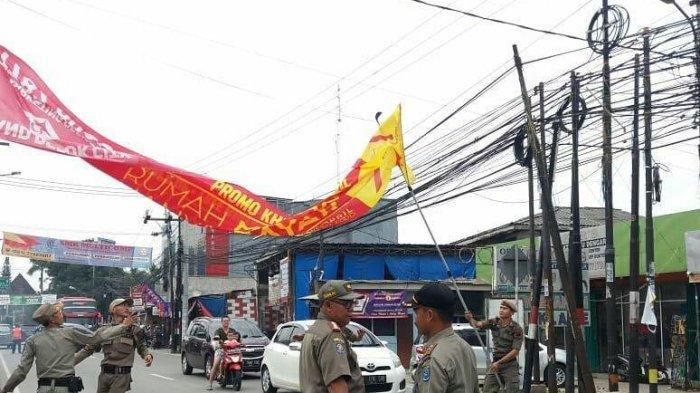 Satpol PP Depok Tetapkan Operasi Tangkap Tangan Penertiban Spanduk Liar dengan Denda Rp 25 Juta