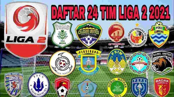 Kompetisi Liga 2 Indonesia diikuti 24 klub yang kemungkinan akan dibagi dalam 4 grup wilayah, tiap grup terdiri dari 6 klub peserta dipilih juara dan runner up untuk babak selanjutnya.