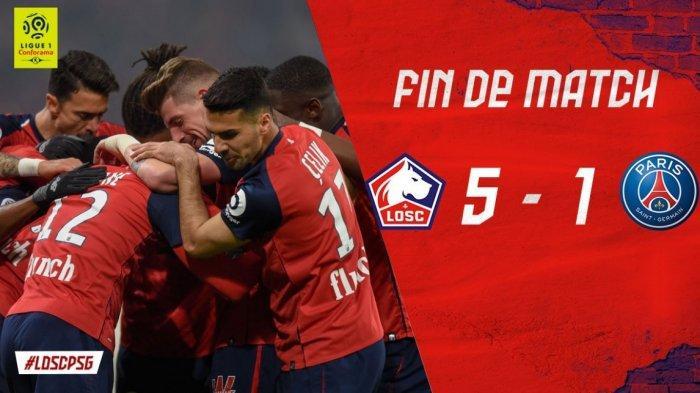 Highlights Lille vs PSG 5-1: Drama Lima Gol ke Gawang Raksasa PSG, Pertama Kali Sejak Tahun 2000