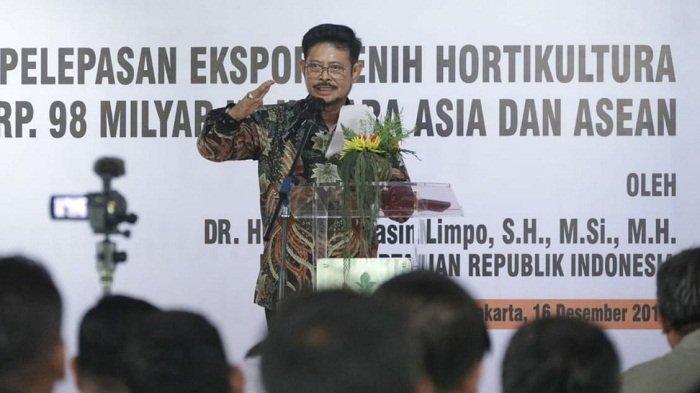 Menteri Pertanian Yasin Limpo Minta Polisikan dan Tangkap Pejabat Alih Fungsi Lahan Pertanian
