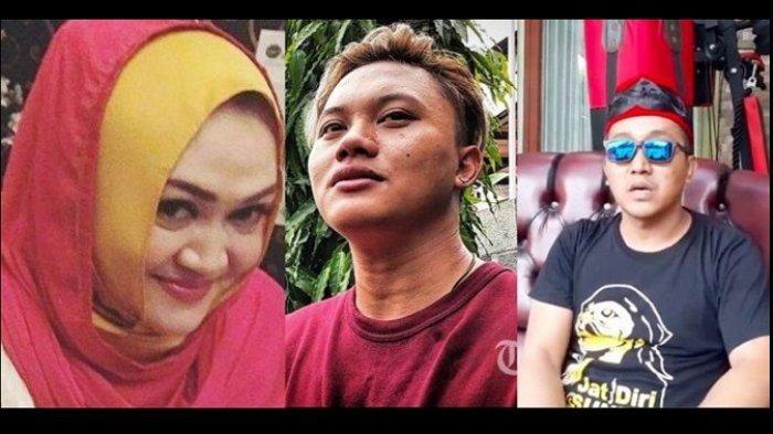 Almarhumah Lina Jubaedah, Rizky Febian dan Teddy Pardiyana.