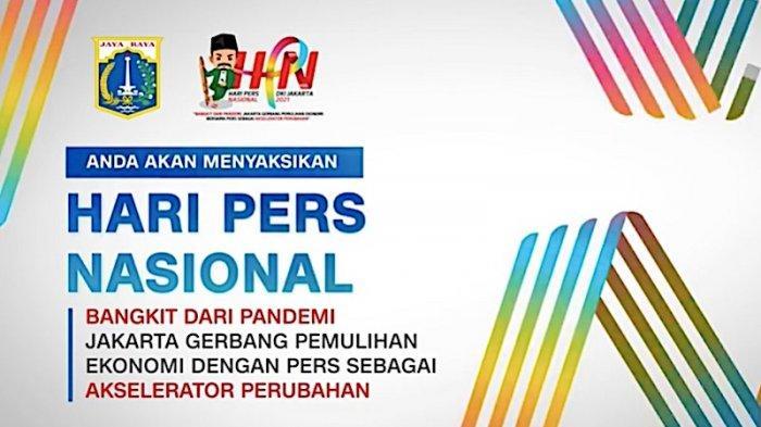 LINK Streaming Peringatan Hari Pers Nasional 2021 akan Dibuka Presiden Jokowi Pukul 09.30 WIB