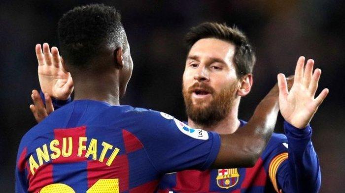 Lionel Messi dan Ansu Fati