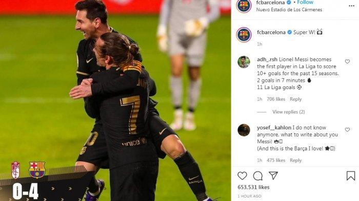 Barcelona Gilas Granada 4-0, Lionel Messi Topscorer 11 Gol, Roenald Koeman: Kami Butuh Leo