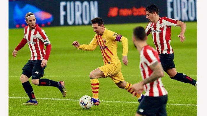 Susunan Pemain dan Live Streaming Barcelona vs Athletic Club, Lionel Messi Berpeluang Balas Dendam