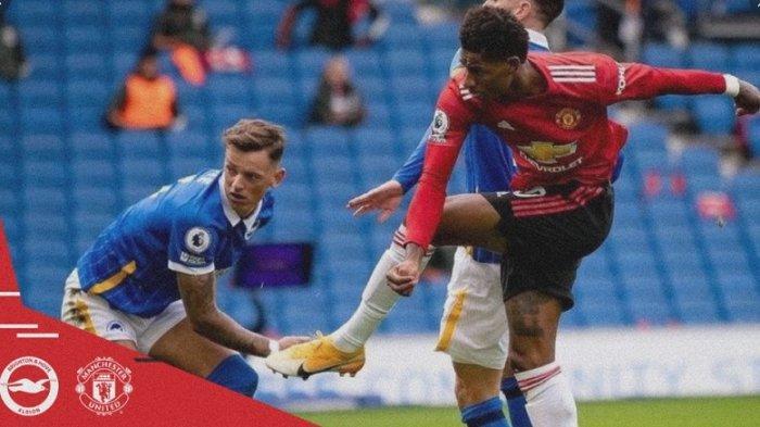 Update Liga Inggris Brighton & Hove Albion Vs Manchester United, Setan Merah Sementara Unggul 2-1