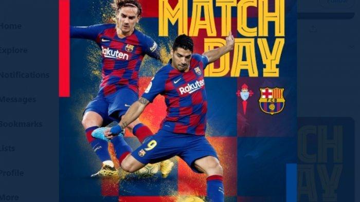 Update Pertandingan Liga Spanyol Celta Vigo Vs Barcelona 0-1, Luis Suarez Cetak Gol Sundulan Kepala