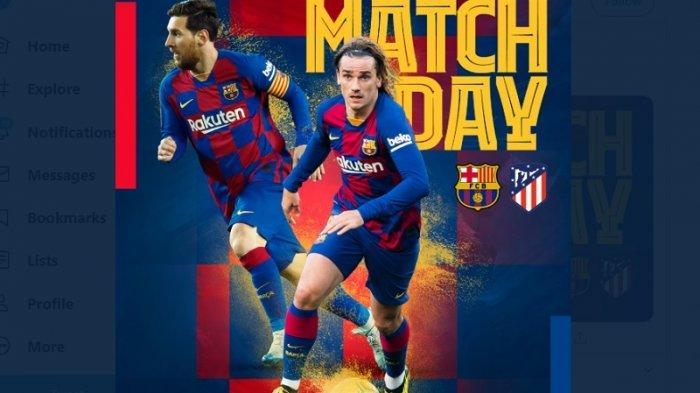 Live Streaming Liga Spanyol Barcelona Vs Atletico Madrid, Main Dini Hari Ini Pukul 03.00WIB