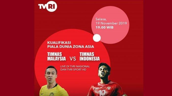Live Streaming Kualifikasi Piala Dunia 2022 Timnas Indonesia Vs Malaysia Siaran Langsung Di Tvri Warta Kota