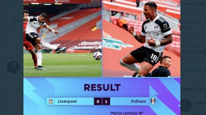 Gawat, Dipecundangi Tim Papan Bawah Fulham 1-0, The Reds Terancam Tidak Dapat Tiket Eropa