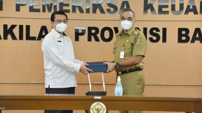 Bupati Tangerang Ahmed Zaki Iskandar Serahkan LKPD ke BPK RI Perwakilan Banten