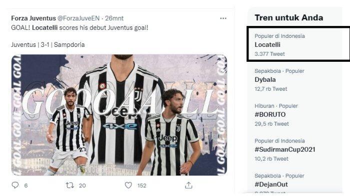 Juventus Menang Lagi dengan Kalahkan Sampdoria 3-2, Locatelli Trending Usai Cetak Gol dan Assist