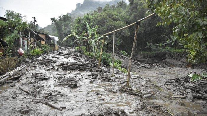 Lokasi banjir bandang di Gunung Mas, Bogor