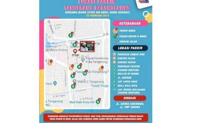 HUT Kota Tangerang, Inilah Lokasi Kantung Parking untuk Acara Tangerang Bersholawat