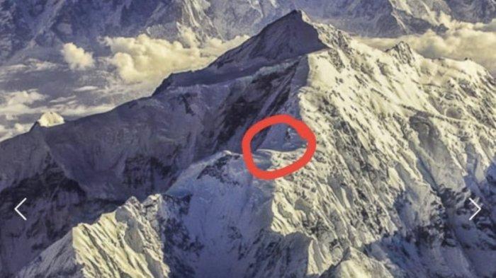 Lokasi pendaki yang terjebak di Gunung Rakaposhi, Pakistan.