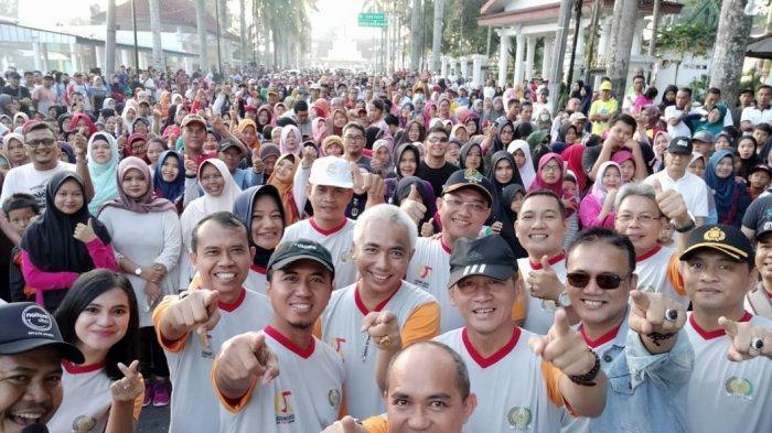 Lomba Jalan Santai Hut Ke-70 Imigrasi Di Pangkal Pinang Diikuti 5000 Peserta
