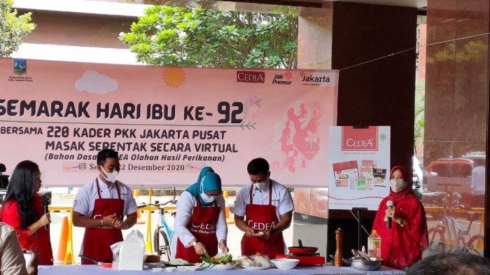 Rayakan Hari Ibu, Ratusan Anggota PKK Jakarta Pusat Ikut Lomba Masak