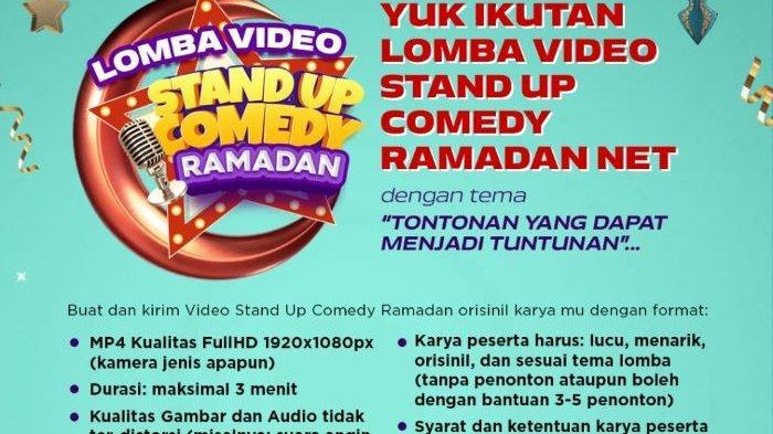 Menjelang Ramadan 2021, NET menggelar Festival Film Pendek dan Lomba Video Stand Up Comedy Ramadan. Peserta dapat mengirimkan karyanya sampai 10 April 2021.