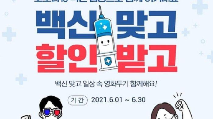 Bioskop di Korea Selatan Beri Diskon ke Penonton yang Telah Divaksinasi Covid-19