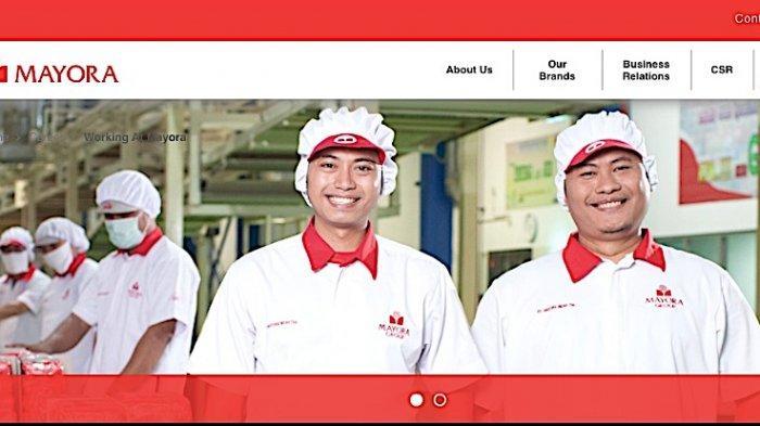 Ilustrasi pabrik PT. Mayora Indah Tbk.