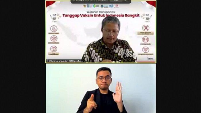"""PT LRT Jakarta menggelar webinar """"Tanggap Vaksin untuk Indonesia Bangkit"""" pada Jumat (30/7/2021)."""
