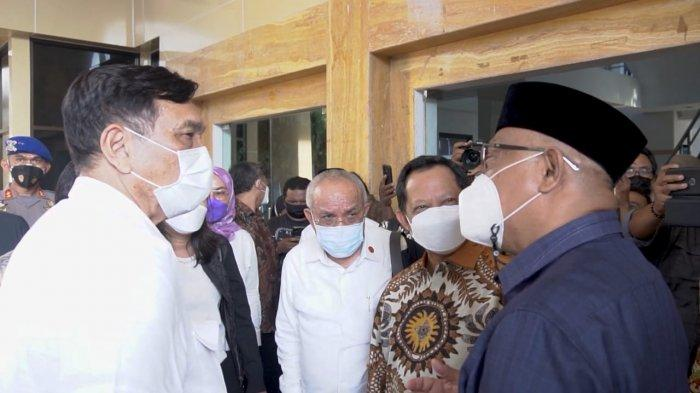 Ini Momen Menkomarves Luhut Binsar Pandjaitan Dukung Captain Ali Ibrahim Jadi Gubernur Maluku Utara