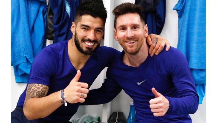 Persahabatan Luis Suarez dan Lionel Messi tidak hanya didalam lapangan tapi juga di kehidupan pribadi mereka