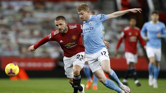 Sedang Berlangsung Babak Kedua Manchester City vs Manchester United 0-2, Gol Luke Shaw Menit 50