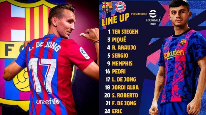 Starting XI dan Live Streaming Barcelona vs Bayern Munich, Tanpa Messi Pasang Depay dan De Jong