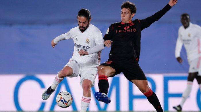 Hasil Babak Pertama Real Madrid vs Real Sociedad 0-0, Tanpa Karim Banzema Real Madrid Mandul