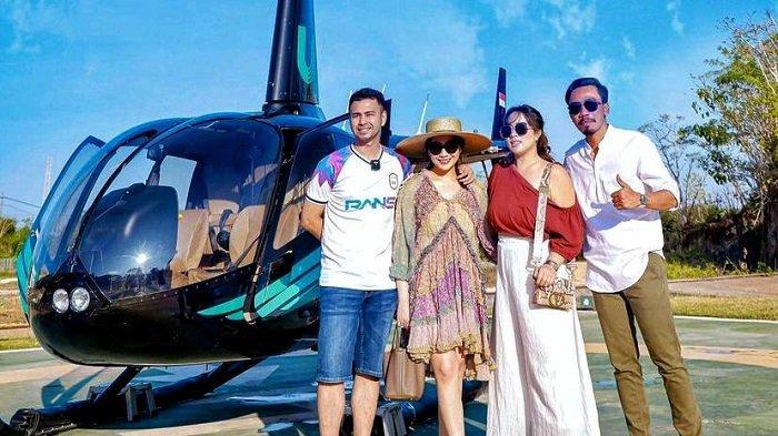 Selebgram dan pebisnis Maharani Kemala berpose bersama Raffi Ahmad.