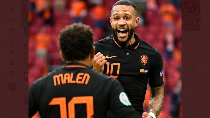 Hasil Babak Pertama Makedonia Utara vs Belanda 0-1, Gol Kerjasama Menawan antara Malen dan Depay