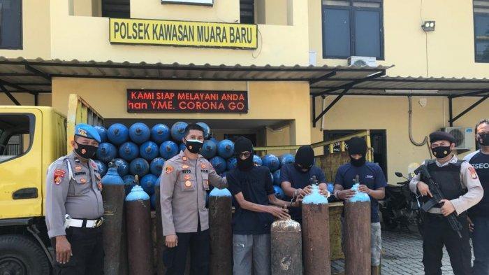 Tiga Pria di Muara Baru Ditangkap Polisi setelah Mencuri 49 Tabung Oksigen