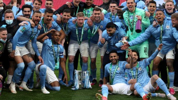 Kalahkan Tottenham 1-0, Manchester City Juara Piala Liga Inggris 2020-2021, Samai Rekor Liverpool